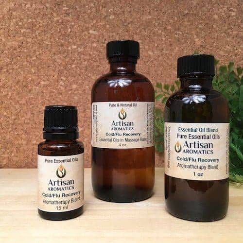 Cold & Flu Recovery Essential Oil Blend - Artisan Aromatics